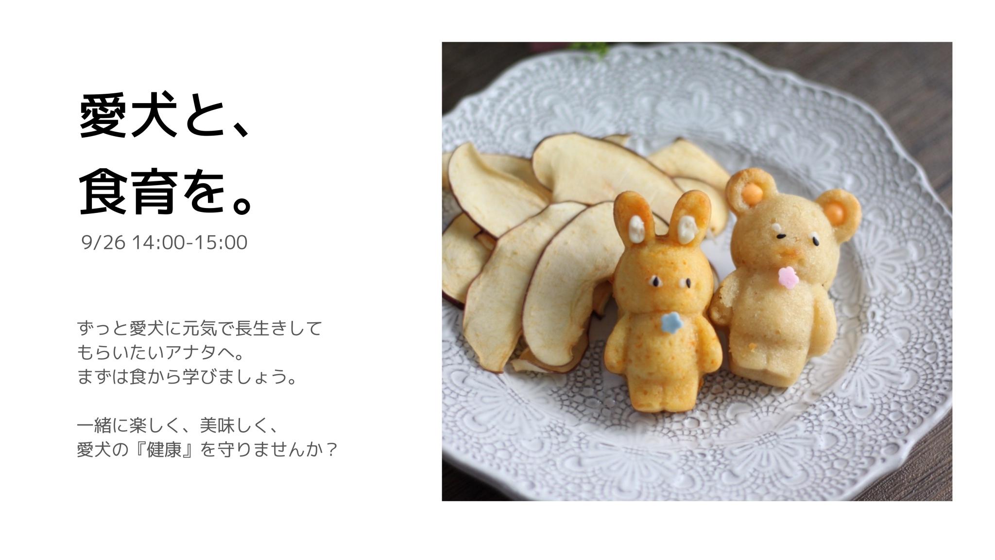 9/26 愛犬と飼い主さんの食育講座