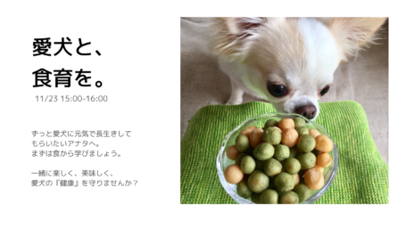 鳴島律子 犬のための食育講座